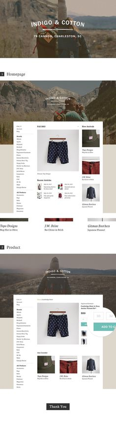 Indigo & Cotton on Behance #ecommerce