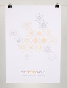 The Metrognome : Bear Antlers #pattern #geometric #sophiewilliams #poster