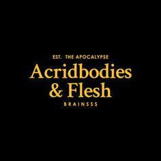 Acridbodies & Flesh #brand #parody #logo