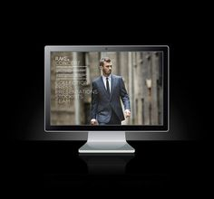 RAKE WEBSITE on the Behance Network #photo #website #type #man #suit #typography