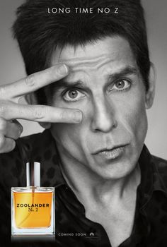 "zoolander ""Long time no Z"" movie poster cinema perfume comedy blue steel"