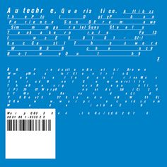 Autechre - Quaritice, The Designers Republic #album #cover #artwork