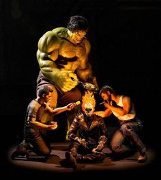 Amusing Action of Marvel Superheroes in Not So Super Conditions #inspiration #photography #superheroes #marvel