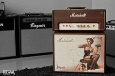 Marshall-C5 Custom Pin up-2013-Brown #amplifier