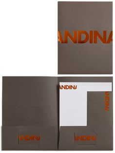 Kevin Cantrell Design/ Andina Identity #type #identity #stationary #typography