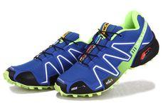 Salomon Speedcross 3 CS Cosmos Blue Pop Green Black Trail Running Shoes #shoes