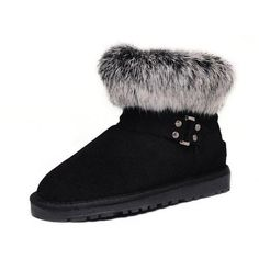 Ugg Women Fox Fur Mini 5859 Black #women #fox #fur #ugg