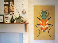 Amok Island - Tiger Beetle #canvas #art #painting