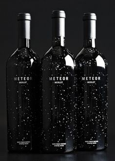 Meteor Merlot Packaging #packaging #wine #label #stars