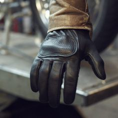 Lee Parks Design DeerTours - Gloves #gloves #black #leather #motorcycle