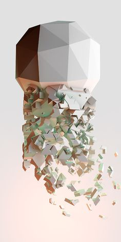 The Birth of Geometry #illustration #low #poly
