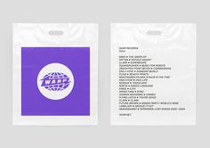 HelloMe_Warp_Branding_Bag_01 #warp records #branding #packaging #bag #plastic #purple #clean