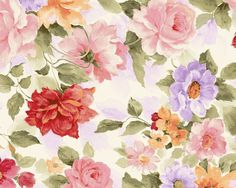 Wallpaper Flower Pattern #flower #pattern