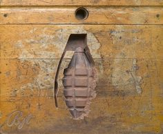 i-dont-like-mondays-by-ben-turnbull-2.jpg 600×494 pixels #wood #impression #grenade