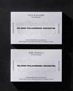 #businesscards #orchestra #emboss