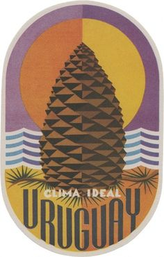 All sizes | Clima Ideal, Uruguay (135mm x 85mm) | Flickr - Photo Sharing! #illustration #cone #pine #ephemera