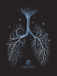 Jack White // Charlotte, NC poster by DKNG
