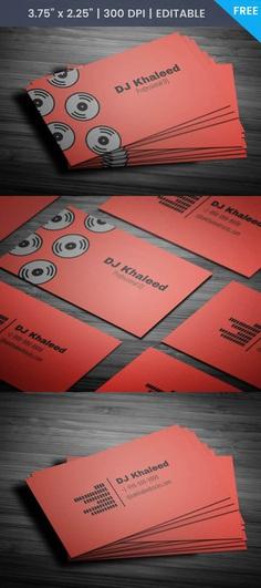 Free Simple Dj Business Card Template