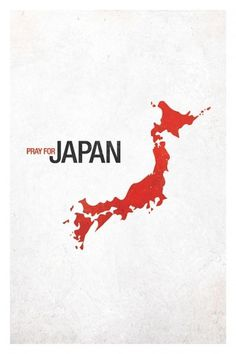 Pray for Japan #red #japan #poster #pray