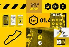 NASCAR // On Track on Behance #race #layout #manly #icon #logo