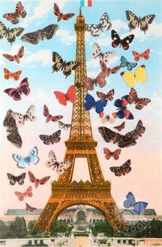 Eiffel Tower Silkscreen Print by Sir Peter Blake Buy Online – Authenticity Guaranteed #peter #art #blake