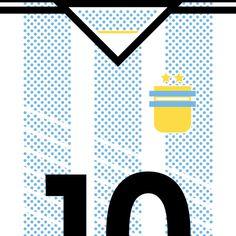 Argentina La Albicelestes #flat #swiss #argentina #design #world #clean #maradona #fifa #cup