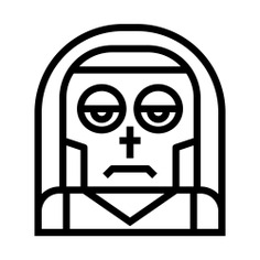 See more icon inspiration related to spooky, terror, catholic, scary, fear, nun, character, costume, religious, horror, user, halloween, woman, avatar, profile and people on Flaticon.
