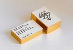 Verena Michelitsch Business Card #edge #business #branding #gilded #card #diamond #letterpress #promo #gold