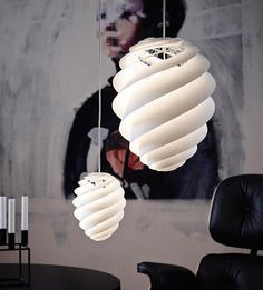 Swirl lamp light and delicately by Le Klint / www.homeworlddesign.com #lamp #lighting