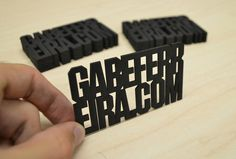 Personal Cards #cut #business #black #laser #cards #typography
