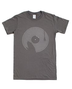 MISC THINGS — SCRATCH — Grigio antracite — (S,M,L) #t-shirt #print #scretch #vinyl #dj #screen printing #grey #charcoal