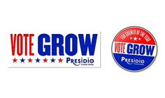 Presidio: Vote Grow Campaign Sticker and Button | Flickr - Photo Sharing! #design #art #advertising #layout #sticker #button #agriculture