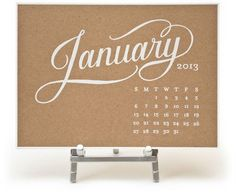 Kate desk calendar kraft._rect540 #calendar #typography
