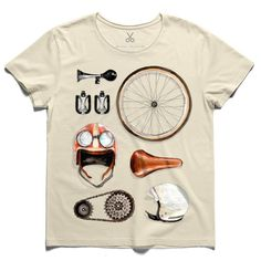 #johnlennon #bicycle #horns #pedal #caps #wheel #tee #tshirt #beige #saddle