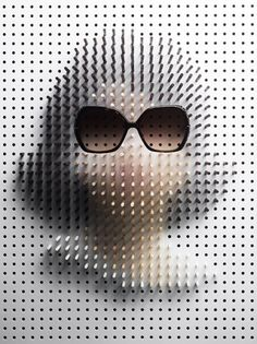 Pin Art / Plaza #pinboard #jackie #sunglasses #art #o