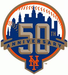 Mets 50th anniversary logo by Michael G. Baron, via Flickr #logo #anniversary