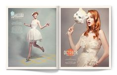 Calendar Girl on the Behance Network #calendar #design #army