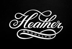 Heather Script, by Michael Spitz #graphic design #design #typography #creative #script #black #inspiration