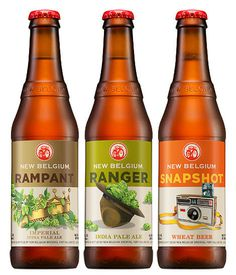 New Belgium Bottles #packaging #beer #labels #bottle
