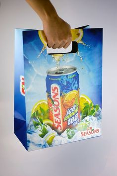 oats.com.sg » Seasons Ice Lemon Tea & Ice Lemon Green Tea Giveaway Paper Bags
