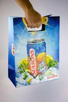 oats.com.sg » Seasons Ice Lemon Tea & Ice Lemon Green Tea Giveaway Paper Bags #packaging #bag #paper