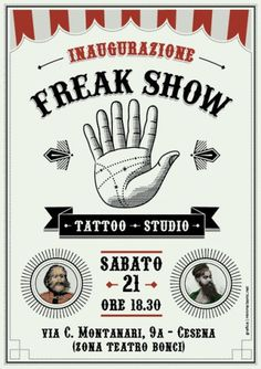 MINIMALSONIC #flyer #tattoo #freak #show