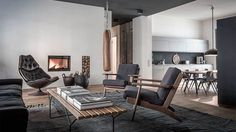 Edgy luxury apartment equipped with statement furniture pieces and signature interior design - HomeWorldDesign (1) #interior #apartments #design #retro #vintage #berlin #luxury