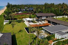 Villa Summer Estate is a newly built modern & luxurious holiday house on absolute beachfront in Natai Beach, Phuket. Features a 25m pool, gym, fully-equipped kitchen, AC, BBQ, daily breakfast, maid service, personal chef & modern amenities. Book Exclusively with Villa Getaways!