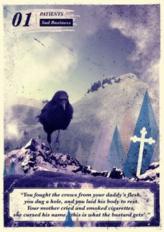 Andrew McAlpine ///// Graphic Design //////// #grave #bird #radical #landscape #crow #face