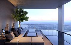 PANO Three Floors Penthouse Residence terrace swimming pool area breathtaking view #outdoor #architecture #terrace