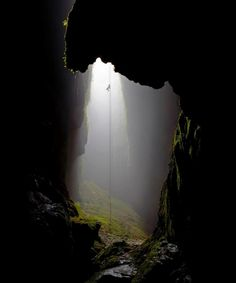 Rappelling Into The Lost Cave