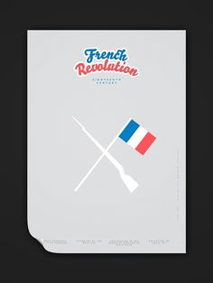 Minimalist Modern History 15c–19c on the Behance Network #history #modern #lee #wonchan #french #poster #revolution #minimalist #typography