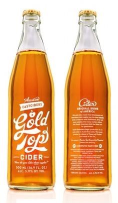 Typography | Tumblr #bottle #top #cider #simon #gold #type #walker #typography