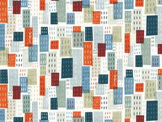 City pattern by Michael Mullan #pattern #overlay #illustration